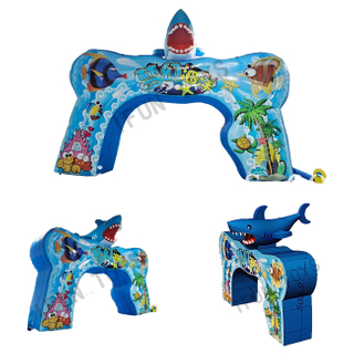 Ocean Park Event Decoration Inflatable Entrance Arch / Dolphin Archway for Advertising