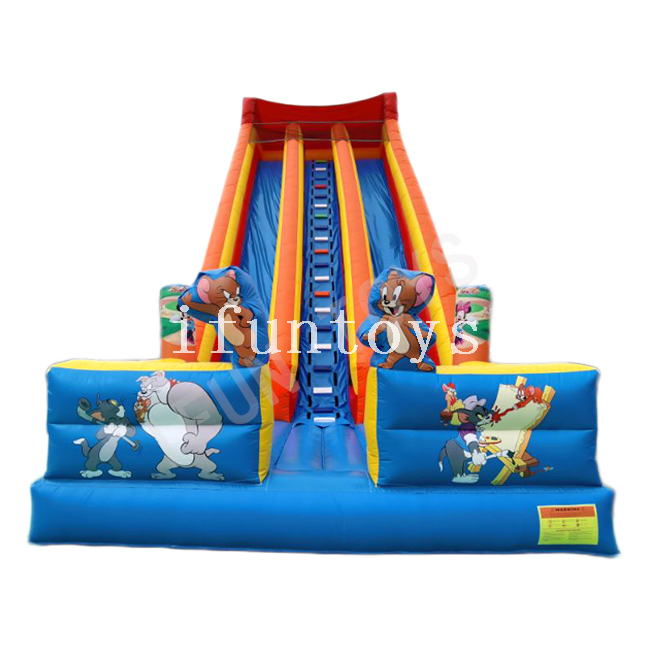 Tom and Jerry Inflatable Dry Slide / Sliding Bouncer