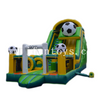 Commercial Inflatable Football Bounce House/ Inflatable Bouncers Combo with slide/jumping bouncy castle obstacle for kids
