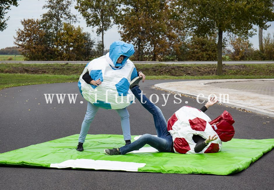 Outdoor inflatable fighting sumo wrestler costume/ inflatable football sumo wrestling suits for kids and adults