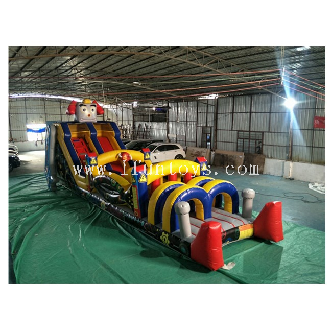 Robot Theme Inflatable Obstacle Course /Inflatable Obstacle Challenge Race/Inflatable Robot Assault Courses for Kids And Adults