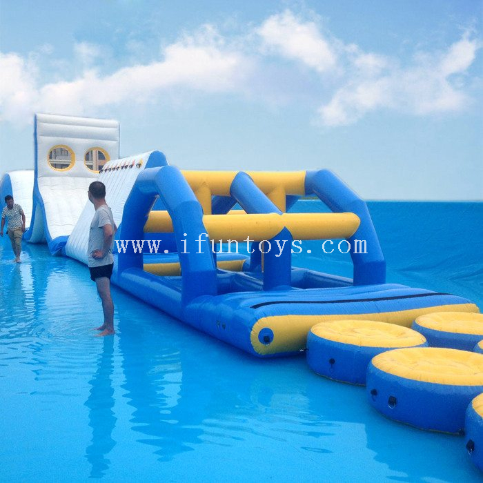 Commercial amusement Inflatable Floating Water Park Inflatable Water Obstacle Course for kids and adults