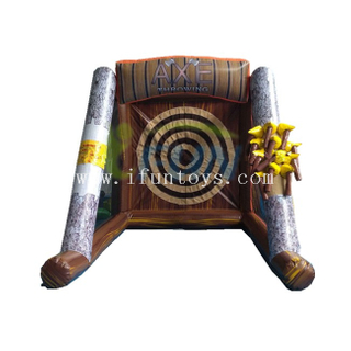 Inflatabe Axe throwing game /axe throwing inflatable target game for kids and adults