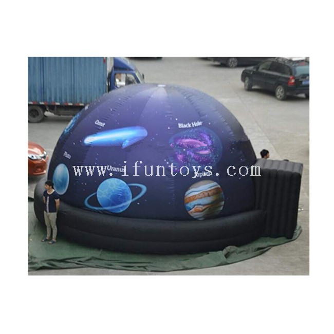 5M Full Printing Inflatable Planetary Projection Dome Tent / Inflatable Planetarium Dome with Air Blower for School Astronomy Teaching