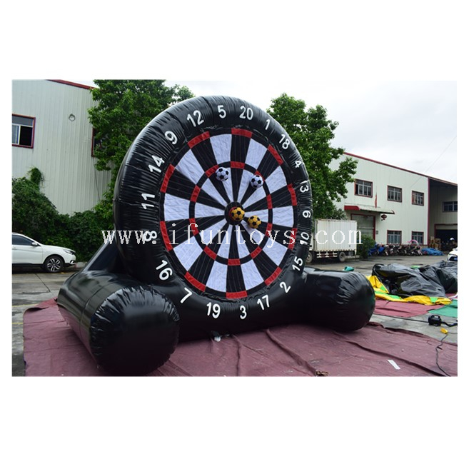 4m High Inflatable Kick N Stick Foot Darts /Inflatable Soccer Dart Board with Sticky Football / Inflatable Golf Dart Game for Sale