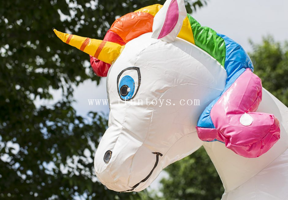 Lovely kids inflatable unicorn jumping bouncy castle /inflatable bounce house combo slide with roof for sale