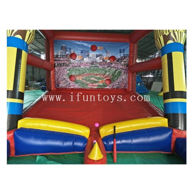 Outdoor Sport Games Inflatable Baseball Batting Cage /Air Softball Batting Cage / Inflatable Tee Ball