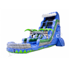 Palm Tree Inflatable WaterSlide / Inflatable Wet Slide with Swimming Pool for Kids And Adults