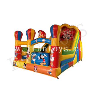 Disney Theme Inflatable Slide / Dry Slide / Bouncy Slide for Kids