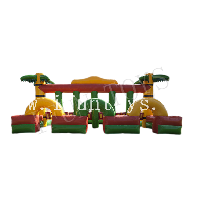 Jungle Theme Inflatable Running Horse Race Challenge Sport Game