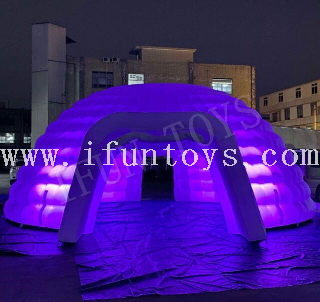 LED Inflatable Dome Tent / Igloo Dome Tent for Party Event