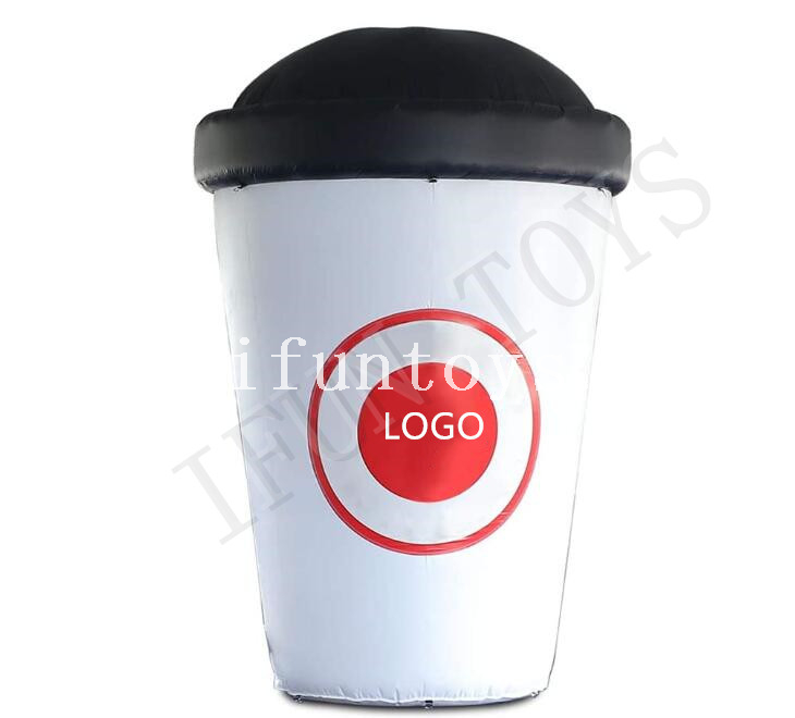 Customized Inflatable Coffee Cup with Air Blower for Outdoor Advertising