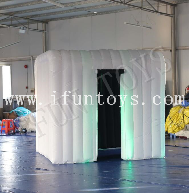 LED Light Inflatable Photo Booth Cube with Blower for Wedding / Party