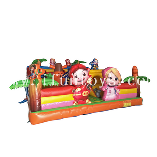 Funny Inflatable Cartoon Fun City /inflatable playground/inflatable bouncy castle for kids Amusement Park