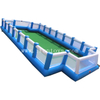 Giant inflatable street soccer pitch football court soccer ball arena with wall for sale