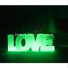 Romantic Wedding Inflatable Letter Love Inflatable Led Letter Balloon For Stage Decoration/Led Inflatable Love For Party