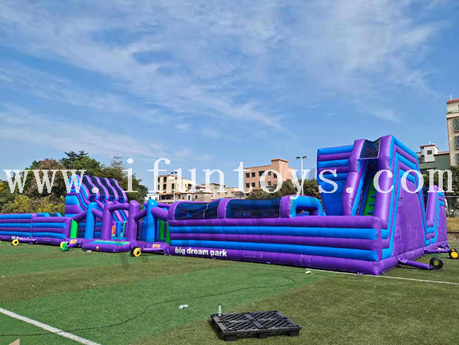 Outdoor Big Dream Park Inflatable Fun City Playground / Amusement Park for Kids