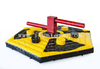 Wipeout Eliminator Inflatable Sweeper / Meltdown Zone Inflatable Game for Last One Standing