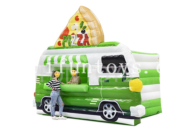 Outdoor Movable Inflatable Food Truck Tent / Pizza Booth / Concession Stand for Sales