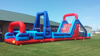 Inflatable land obstacle challenge race game /inflatable Extreme Rush Obstacle/the beast inflatable obstacle course for sport