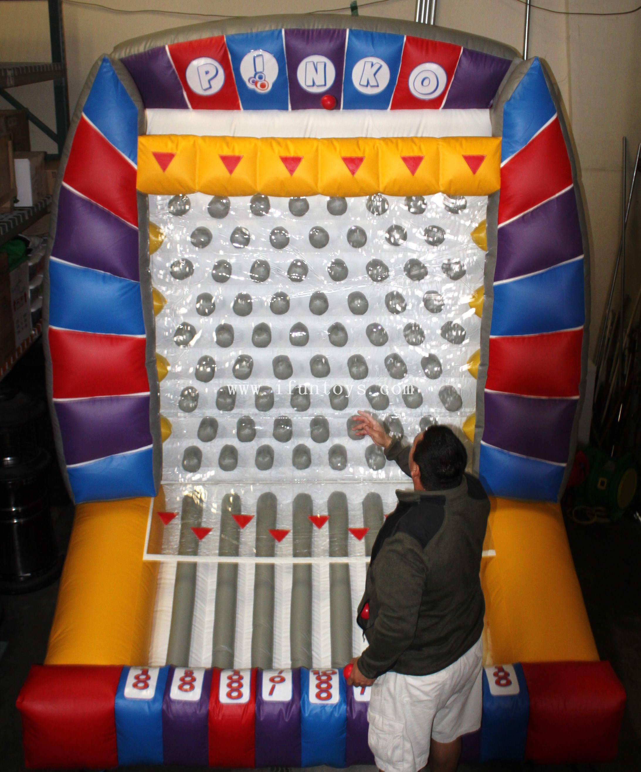 Commercial Inflatable Plinko Carnival Game/ Interesting Inflatable Pinball Game/Inflatable Plinko Bounce House for sale