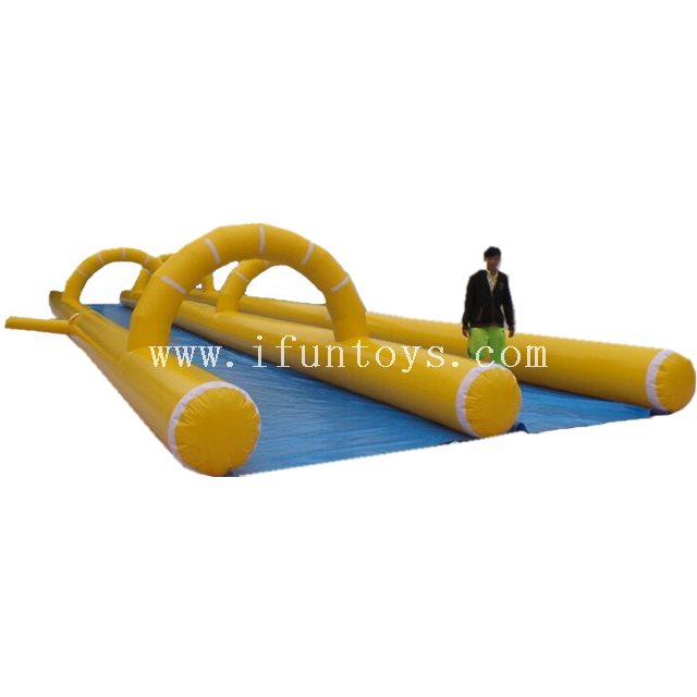 Giant inflatable slide the city /100ft long inflatable slip and slide / inflatable water slide for sale