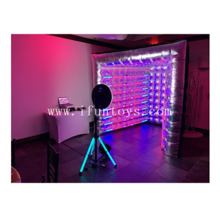 Customized Inflatable V Shape Photo Booth /Sliver Inflatable Vogue Photo Booth / Inflatable Photo Booth Backdrop with LED Light