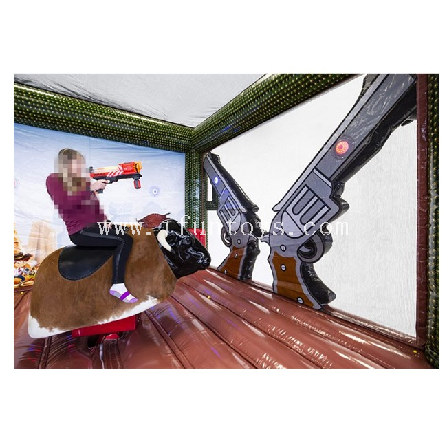 Interactive Inflatable Bull Rodeo with IPS Battle Light /Inflatable Bull Riding IPS game/ IPS Inflatable Bull Rodeo Simulator Game