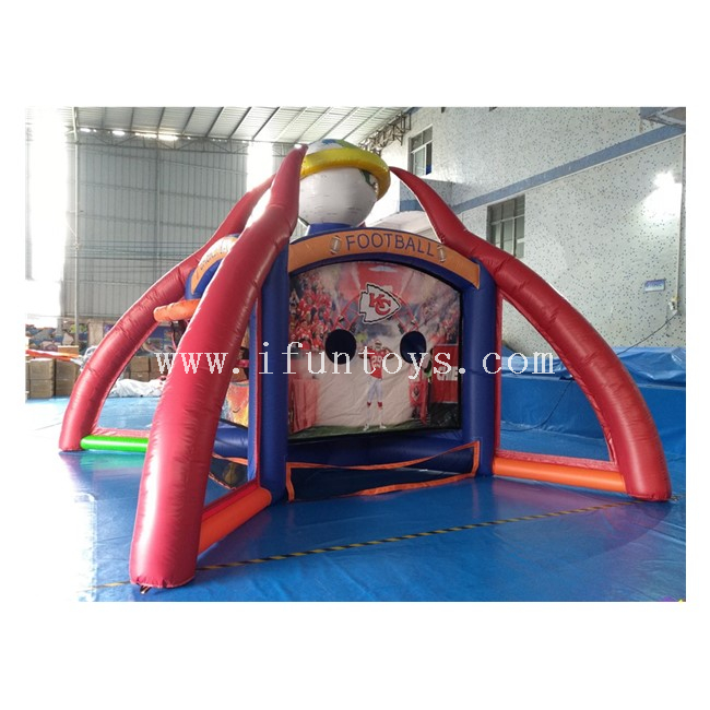 4 in 1 Combined Inflatable Carnival Sports Games / Inflatable Baseball /Basketball / Football Shooting Game