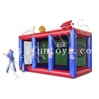3 in 1 Inflatable Sport Game Center Baseball / Basketball and Darts for Kids and Adults