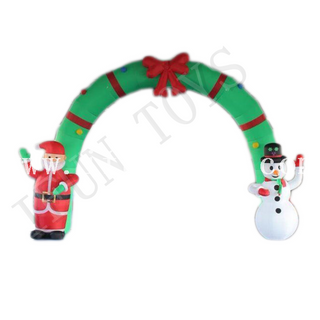 Outdoor Inflatable Santa & Snowman Arch / Christmas Archway