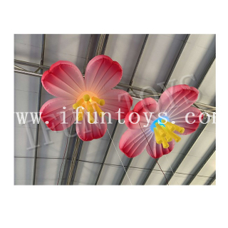 Ceiling Decoration Inflatable Plum Flower / Hanging Flower with LED Light for Party