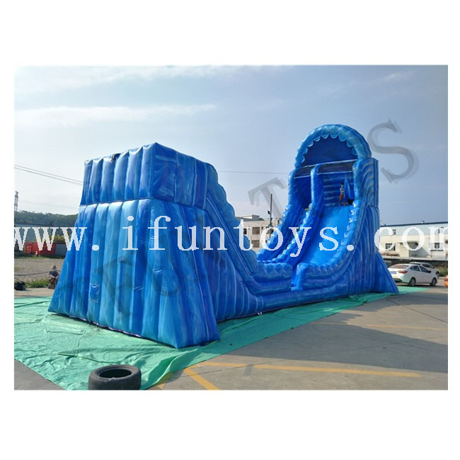 Single Lane Inflatable Zip Line Ropeway Slide Game for Amusement Park