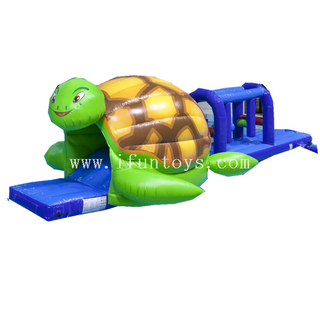 Turtle water park AQUA RUN inflatable obstacle course/ floating challenge/water world ship park for kids