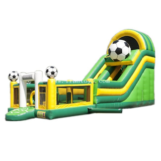 Multiplay Inflatable Football Combo Slide/Inflatable Jumping Castle with Slip Slide/Inflatable Funny Playground Bouncy for Kids