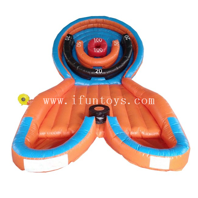 Interactive Carnival Sport Game Inflatable Bullseye Ball / Inflatable Bull Eye Toss Games for Kids And Adults