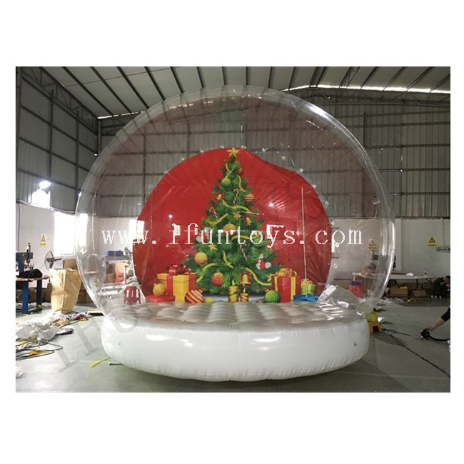 Inflatable Snow Globe Photo Booth / Giant Clear Bubble Tent Snow Globe for Wedding / Christmas / Party Decoration