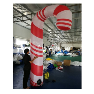 2.5m tall Inflatable Candy Cane / Inflatable Walking Stick / Inflatable Christmas Crutch for Outdoor Decoration
