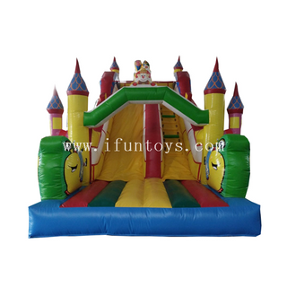 Commercial Inflatable Clown Bouncy Castle Slide/inflatable dry slide/ inflatable Clown combo slide for kids