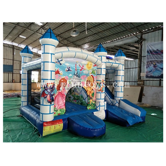 Castle Theme Inflatable Jumping Bouncy House / Inflatable Bouncy Castle with Slide / Castle Combo for Kids