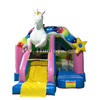 Outdoor inflatable Rainbow Unicorn Bounce House with slide/Unicorn bouncy castle/ Inflatable Unicorn combo for party rentals