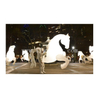 White Inflatable Horse Costume / Led Lighting Inflatable Walking Horse Costume / Inflatable Horse Puppet for Parade Performance