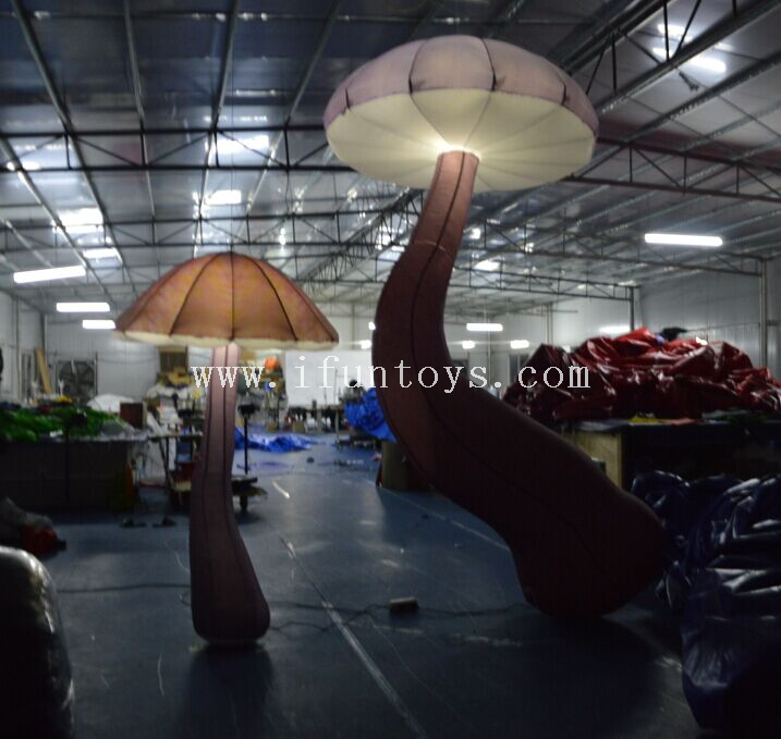 New design Beauty Inflatable Lighting Mushroom / Giant inflatable mushroom for party&event&stage&music decoration