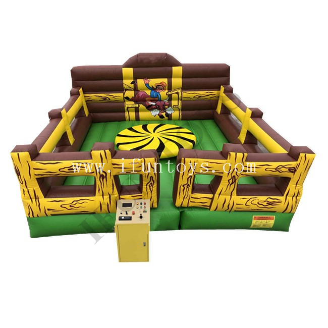Mechanical Inflatable Turntable Sport Game / Inflatable Mechanical Turnaround Spinning Disk