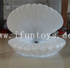 Customized led lighting inflatable stage shell/inflatable seashell /inflatable clamshell cowry for wedding &stage decoration