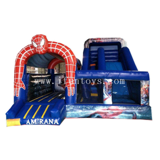 Inflatable Spider Man Bouncy Castle Jumping Bouncy Castle with Slide Combo
