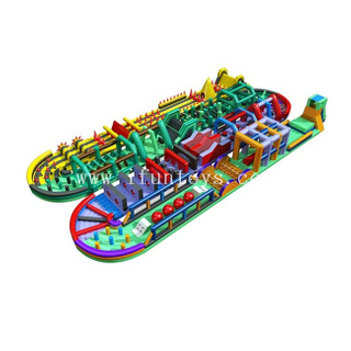 Radical Run Inflatable Obstacle Course / Crazy Inflatable 5k Obstacles / Obstacle Challenge Running Race Game